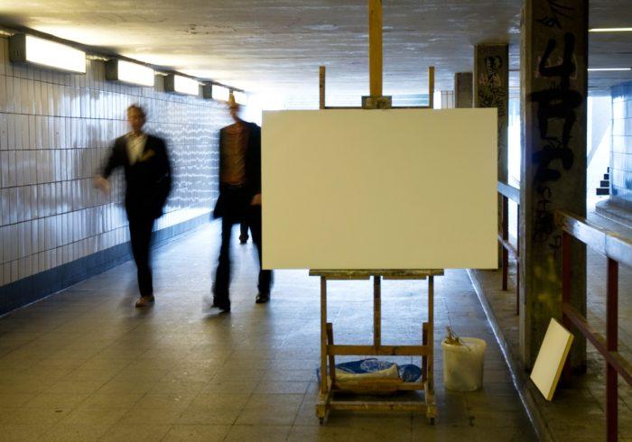 Modellsituation Steinstrasse, Aktion für Gesellschaftsbilder, Kunstverein Hamburg, 2007