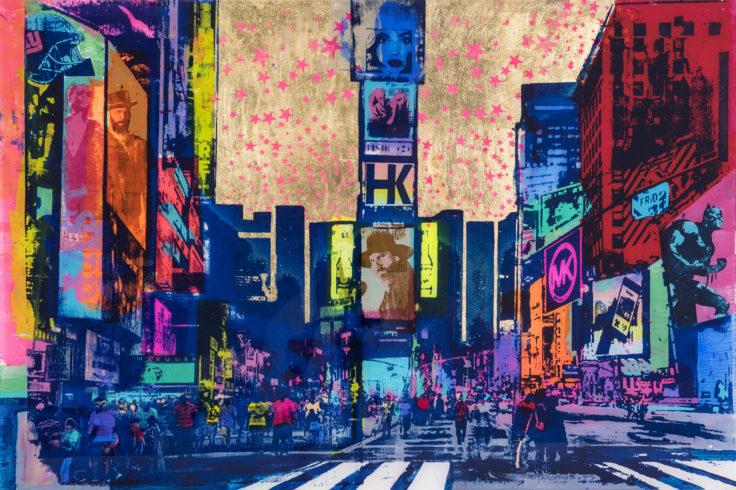 Sandra Rauch New York My Love 2014 Mischtechnik auf Acryl 80 x 120 cm