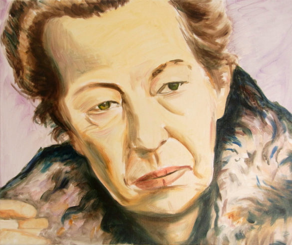 Maria Goeppert-Mayer, 50x60cm, 2012, oil on canvas