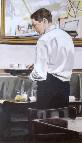 Bild 12 »Kellner«, Öl auf Leinwand, 120 x 70 cm