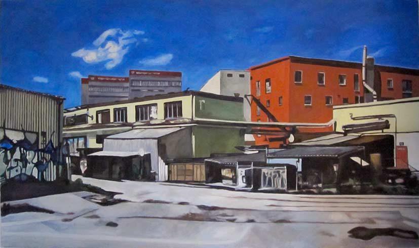 Bild 13 »Fabrik«, Öl auf Leinwand, 90 x 150 cm