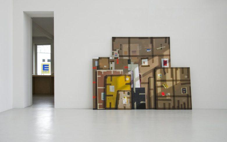 Bilder Einer Ausstellung, 2012, Ölfarbe auf Leinwand, 220 x 280 cm, dreiteilig
