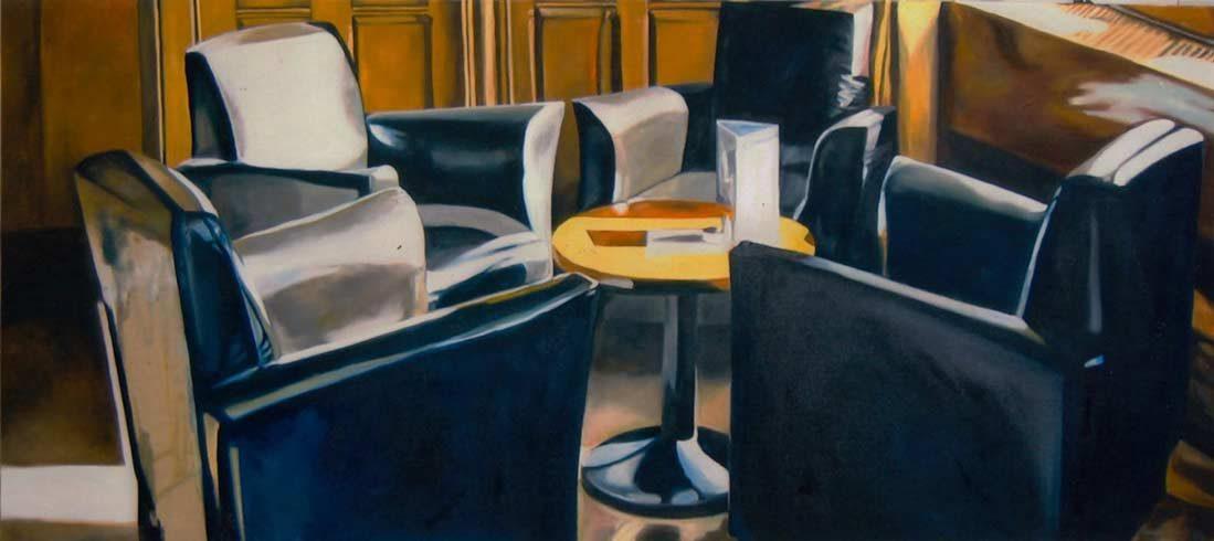 Bild 14 »4 Sessel«, Öl auf Leinwand, 90 x 210 cm