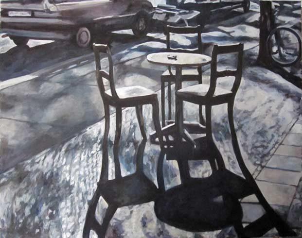 Bild 20 »Straßencafé«, Öl auf Leinwand, 80 x 105 cm