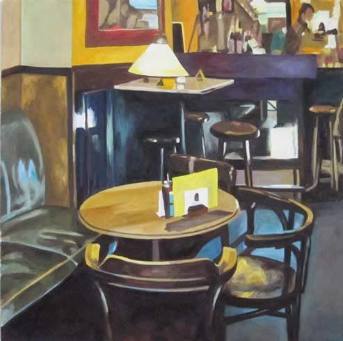 Bild 21 »Kittel bunt«, Öl auf Leinwand, 80 x 80 cm