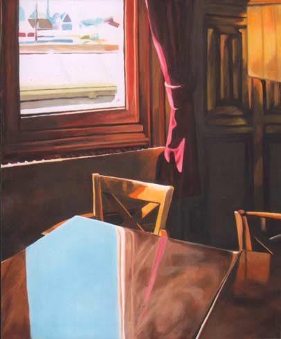 Bild 3 »Fensterplatz«, Öl auf Leinwand, 120 x 100 cm