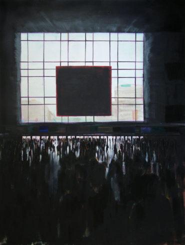 Hauptbahnhof (Düsseldorf), 2006, Öl auf Leinwand, 210 x 170 cm