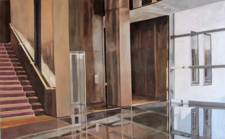 Bild 6 »Ernst & Young«, Öl auf Leinwand, 100 x 180 cm