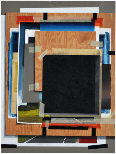 Schwarzes Laster, 2016, Öl-, Acrylfarbe auf Holz, 80 x 60 cm