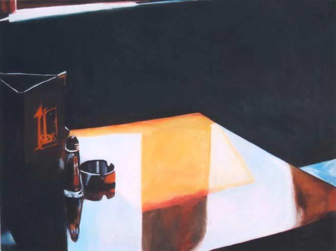 Bild 9 »Spiegeltisch«, Öl auf Leinwand, 60 x 80 cm