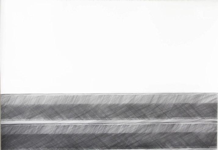 Kantenzeichnung 201306, 2013, Bleistift, 103,5 x 153 cm