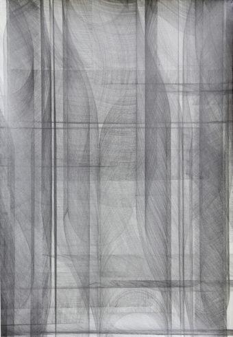 Kantenzeichnung, 2016, Bleistift, 90 x 61 cm