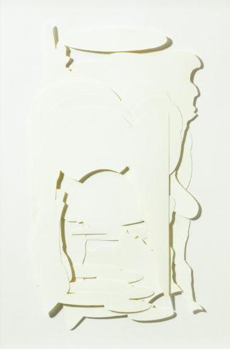 Schnittcollage, 2001, Papier, 52 x 28 cm