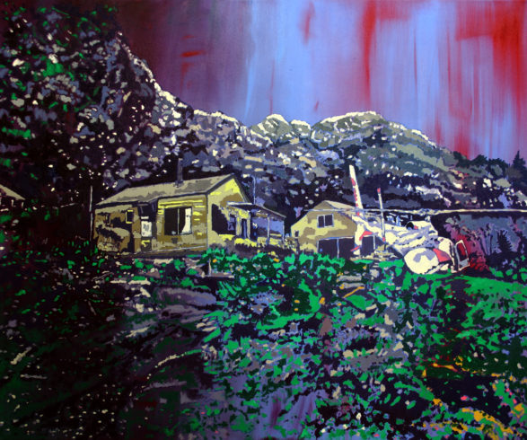 Into the wild, Öl auf Leinwand, 100 x 120 cm, 2017