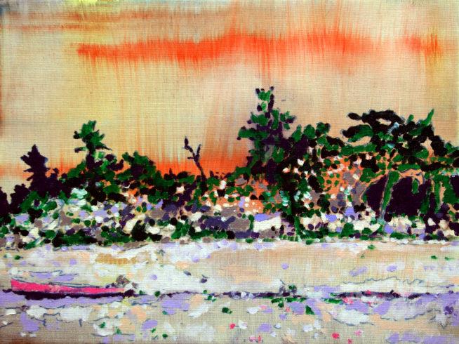 Paradise lost, Öl auf Leinwand, 30 40 cm, 2016