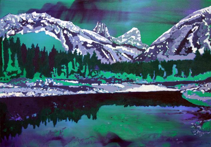 Silent lake, Öl auf Leinwand, 70 x 100 cm, 2016