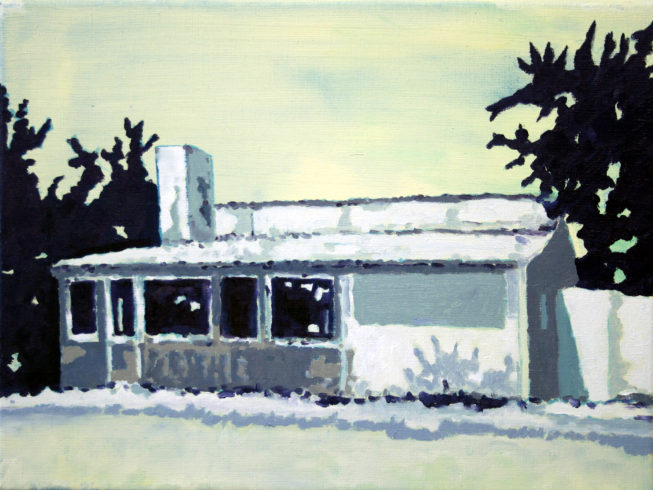 Sommerhaus, Öl auf Leinwand, 30 x 40 cm, 2016