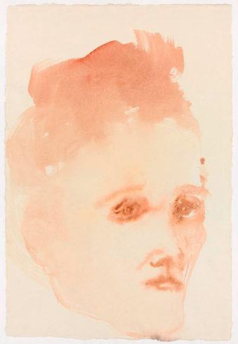Face Shape 1, 2009, Aquarell, 56,6 x 38 cm, Foto: Jochen Littkemann