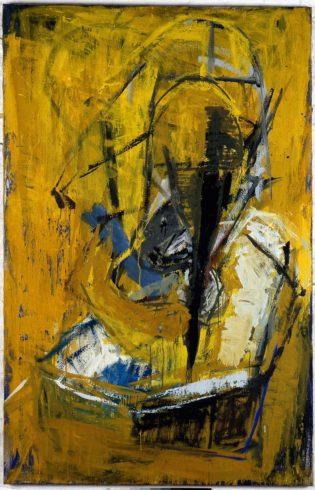 Haarwaschend, 1986, Öl auf Leinwand, 170 x 110 cm, Foto: Lothar Schnepf