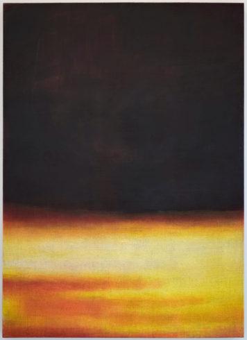 Yellow Reddish Landscape I, 2007, Öl auf Leinwand, 180 x 130 cm, Foto: Lisa Drewes