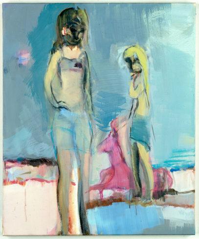 Zwei Mädchen in Hellblau, 2003, Öl auf Leinwand, 60 x 50 cm, Foto: Jochen Littkemann