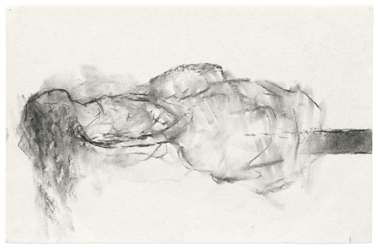 Lying Figure Mexiko, 2008, Kohle auf Papier, 32 x 49 cm