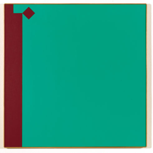 Camille Graeser, Caput mortuum – grün 1:7, 1968 © VG Bild-Kunst, Bonn 2017