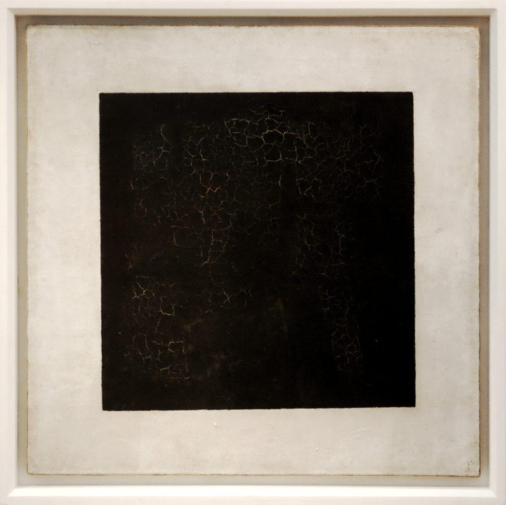 Schwarzes Quadrat auf weißem Grund, 1914–1915, Öl auf Leinwand, 79,6 x 79,5 cm, Tretjakow-Galerie, Moskau