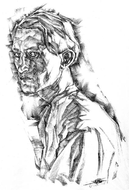 Josef Albers, Selbstporträt, 1917, © The Josef and Anni Albers Foundation, VG Bild-Kunst, Bonn 2017 / Josef Albers