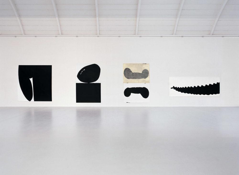 Herbert Maier, Das Grosse Holz, Holzschnitte, Ausstellung im Morat-Institut, 1999, © Herbert Maier, Foto: Bernhard Strauss
