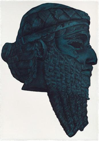 Herbert Maier, Visuelle Bibliothek, Aquarell_5, Raumaufnahmen der Ausstellung