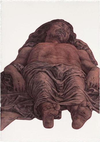 Herbert Maier. Visuelle Bibliothek, Aquarell_3, Raumaufnahmen der Ausstellung