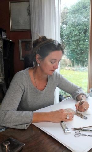 Rosemarie Zacher bei der Arbeit, Foto: Joachim Grau