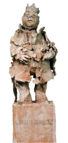 Aus der Serie Bayerische Könige, Keramik, 60 x 20 x 20 cm, Foto: Rosemarie Zacher