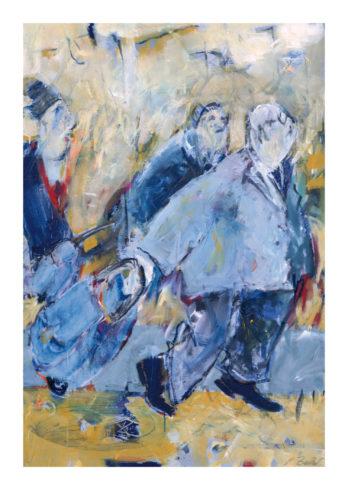 Nichts wie heim, Acryl auf Leinwand, 120 x 80 cm, Foto: Rosemarie Zacher