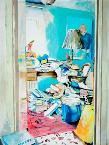 O.T. aus UNSER HAUS, 2005, Öl/ Leinwand 252 x 190 cm, VG Bild-Kunst, Bon 2018/Kerstin Drechsel, Foto: Jens Ziehe