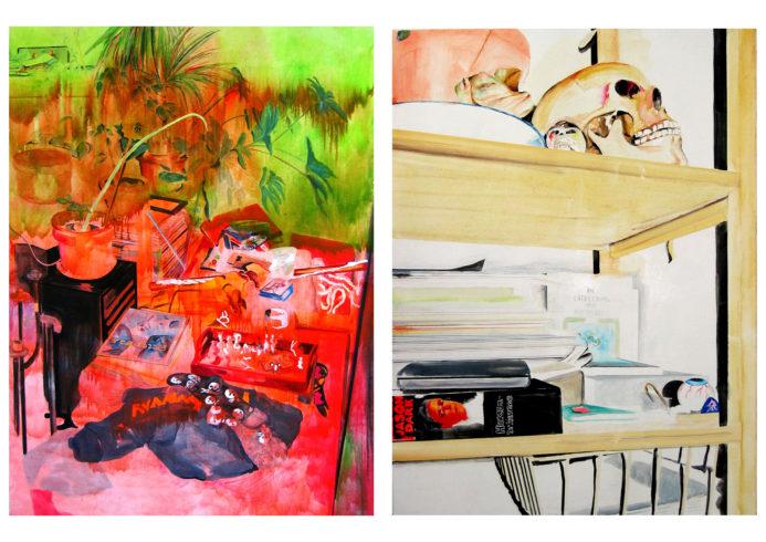MITTELERDE, 2006, Öl auf Leinwand, jeweils 200 x 150 cm, VG Bild-Kunst, Bonn 2018/ Kerstin Drechsel, Foto: Silke Helmerdig