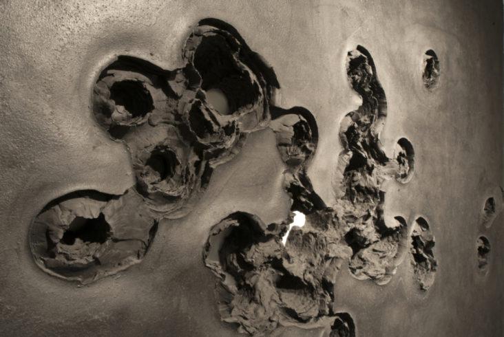 Polymergips, 2015, 202x151x10 cm, Detail. Foto J. Hoffmann