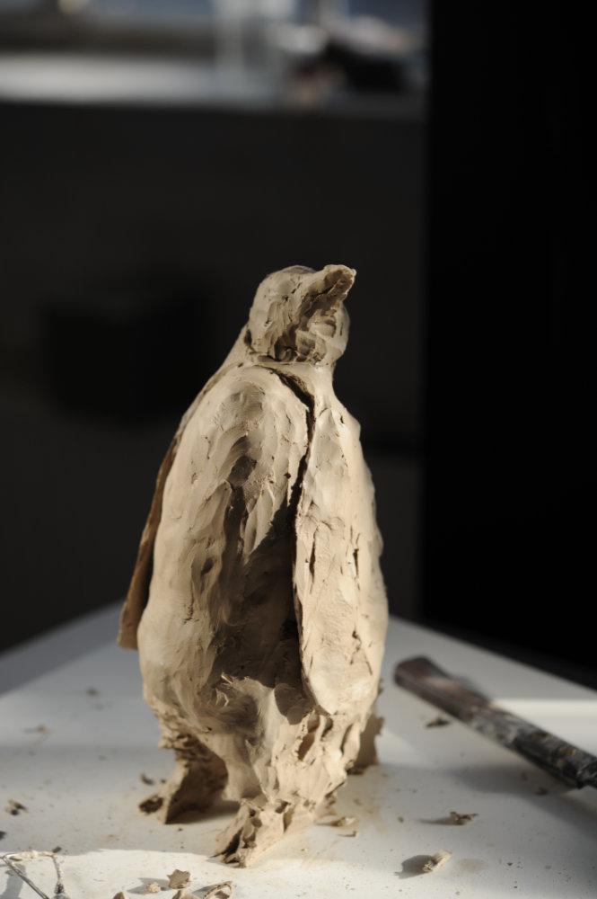 Skulptur Pinguin