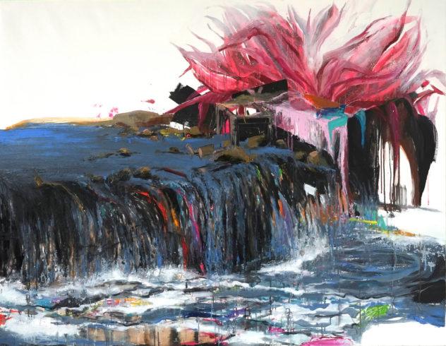 Taiyuan Flower, 2016, Öl auf Leinwand, 180 x 150 cm © VG Bild-Kunst, Bonn 2018/ Stephanie Abben, Foto: Stephanie Abben