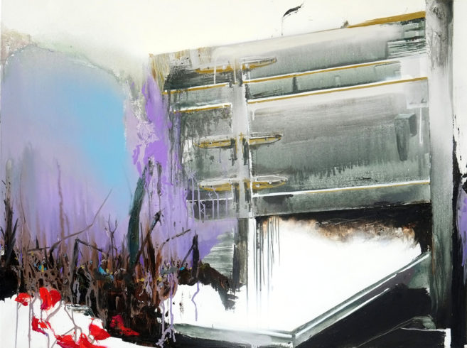 The End, 2018, Acryl und Öl auf Leinwand, 120 x 90 cm © VG Bild-Kunst, Bonn 2018/ Stephanie Abben, Foto: Stephanie Abben