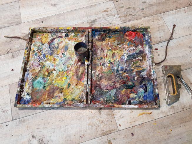Ölmalerei unterwegs mit Klapp-Palette