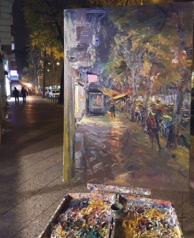 Ölmalerei unterwegs