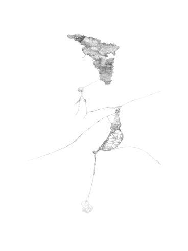 Zeichnung #8 (Mandrem / Indien), 2012, Bleistift auf Papier, 55,8 cm x 41,7 cm © und Foto: Aljoscha