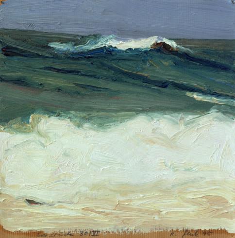 Seestück 30/XI 1995 Öl/P. 25 x 25 cm