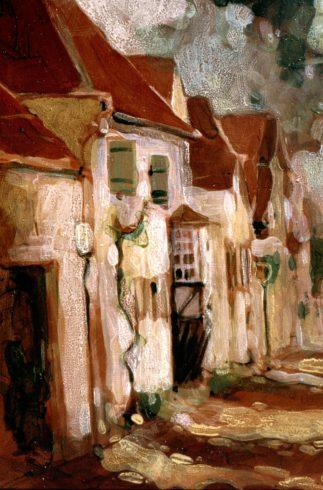 Ausschnitt aus Rhodt, Weinstraße, 1999