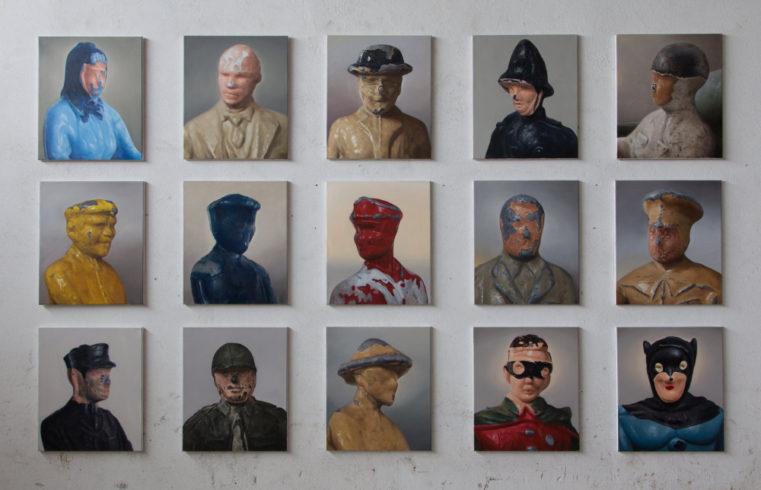 Homo Ludens, 2016/2017, Öl auf Leinwand, 58 x 49 cm