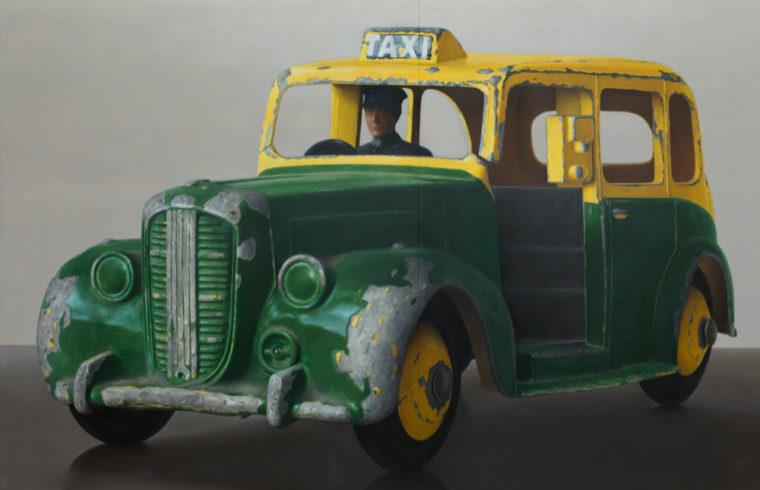 Taxi, 2015/2018, Öl auf Leinwand, 200 x 310 cm
