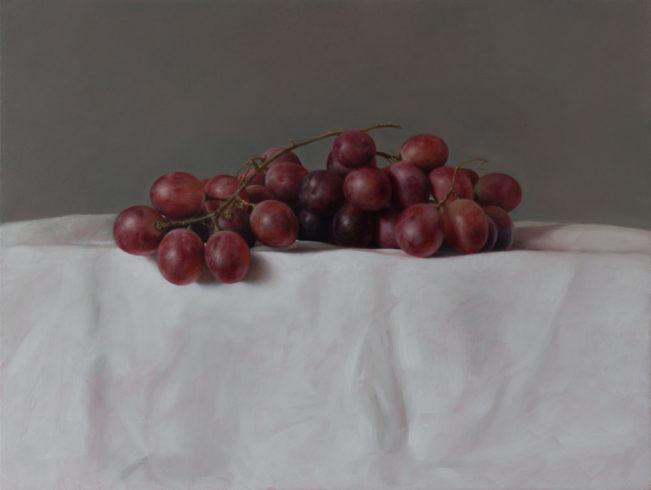 Traube, 2019, Öl auf MDF, 30,2 x 40,2 cm