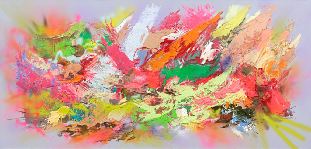 Exuberant Tension, 2018, Oil/Canvas, 120 x 250 cm, Courtesy of the Artist, Foto: Hans-Georg Gaul